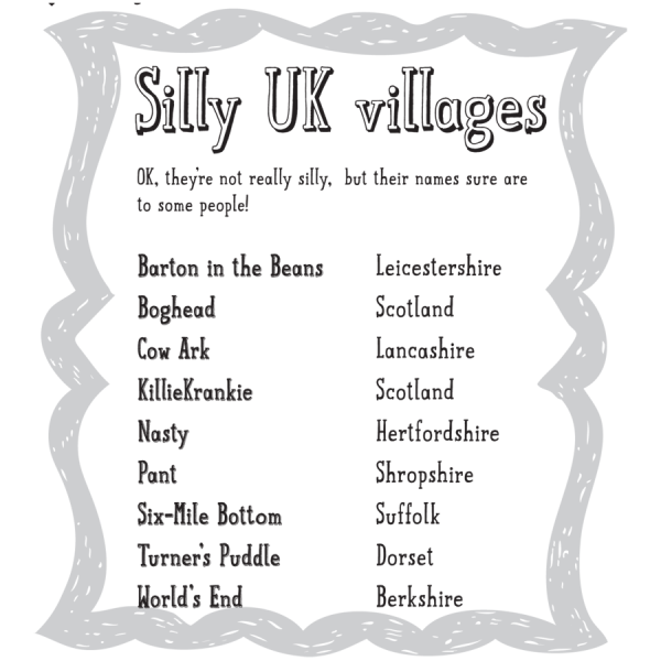 Silly UK Villages